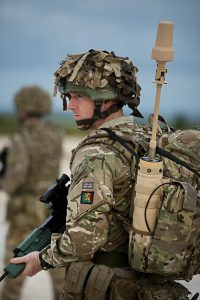 British Soldier equipped with SlingShot for BLOS COTM
