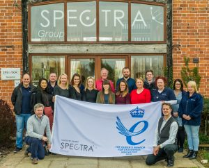 Spectra Staff Celebrate Winning the Queens Award for Enterprise in the Innovation Category, 2019