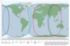 Inmarsat's L-TAC service runs on their I-4 installation, offering global coverage.