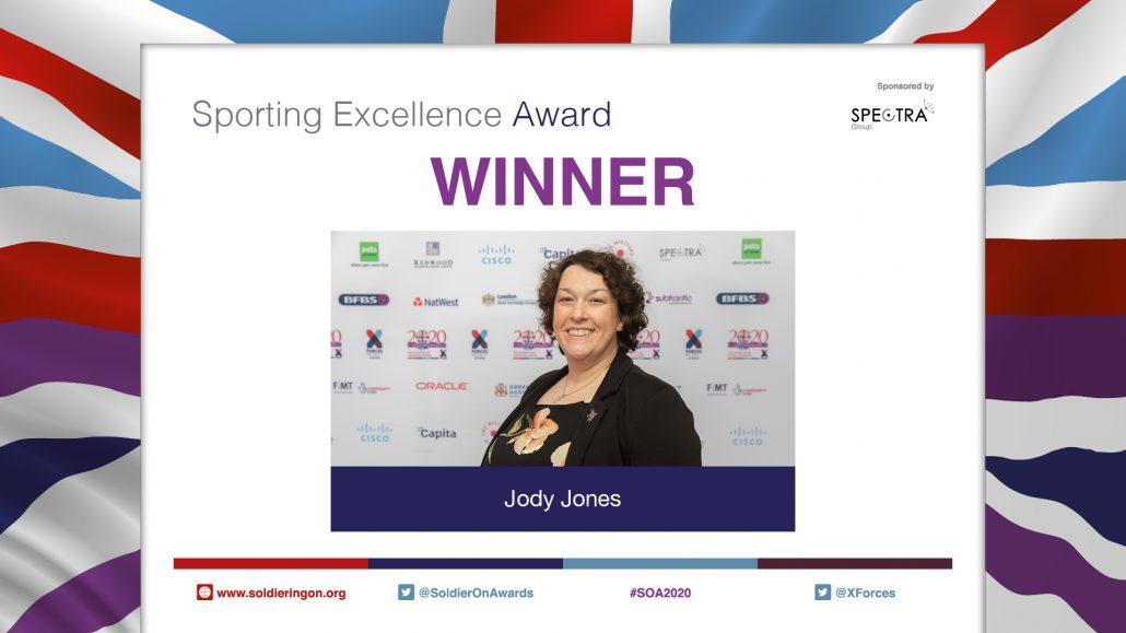 Jody Jones wins SOA2020 Sporting Excellence Award sponsored by Spectra Group