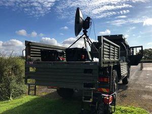 The Comtech Mobile Troposcatter System is easy to transport and set-up to deliver high bandwidthover the horizon data networks